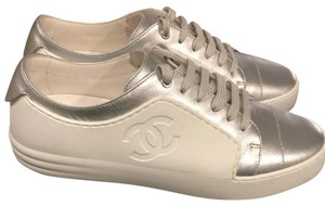 Chanel Silver/White Athletic