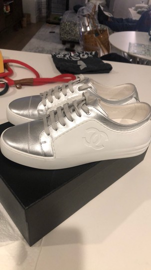 Chanel Silver/White Athletic Image 2