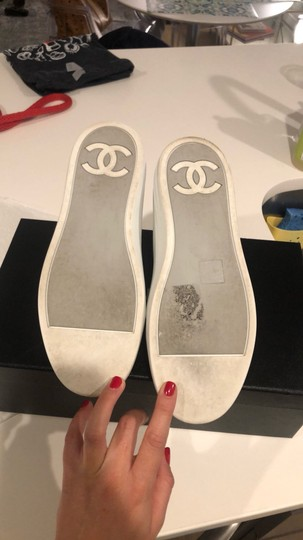 Chanel Silver/White Athletic Image 4