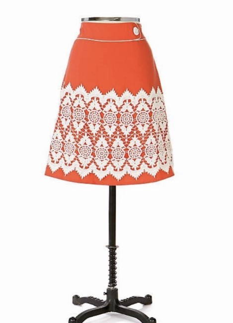 Item - Coral Floreat Walled City Skirt Size 4 (S, 27)