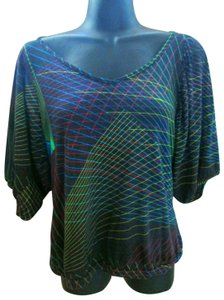 Urban Outfitters Laser Casual Spring Summer Bold Top Multicolored
