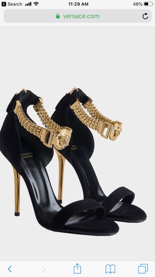 Versace black suede Formal Image 10