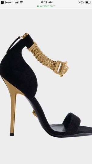 Versace black suede Formal Image 11