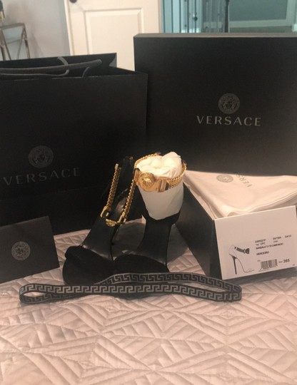 Versace black suede Formal Image 8