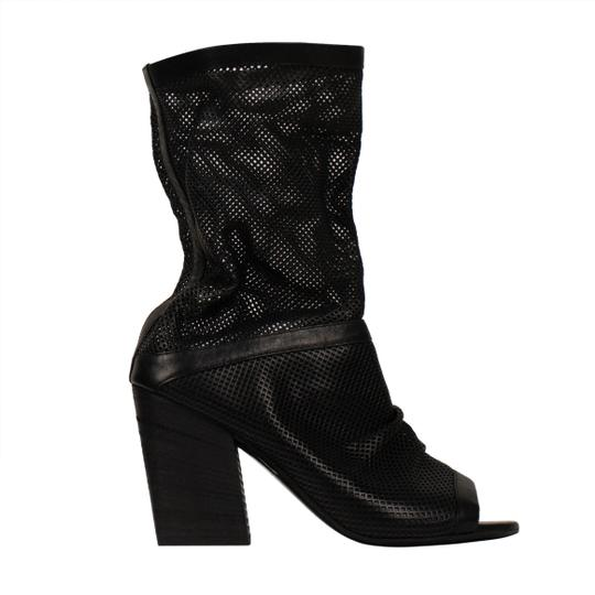 Marsèll Leather Winter Distressed Open Toe Black Boots Image 2