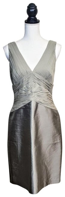 Preload https://img-static.tradesy.com/item/25813383/adrianna-papell-champagne-tan-occasions-silk-mid-length-formal-dress-size-petite-10-m-0-1-650-650.jpg