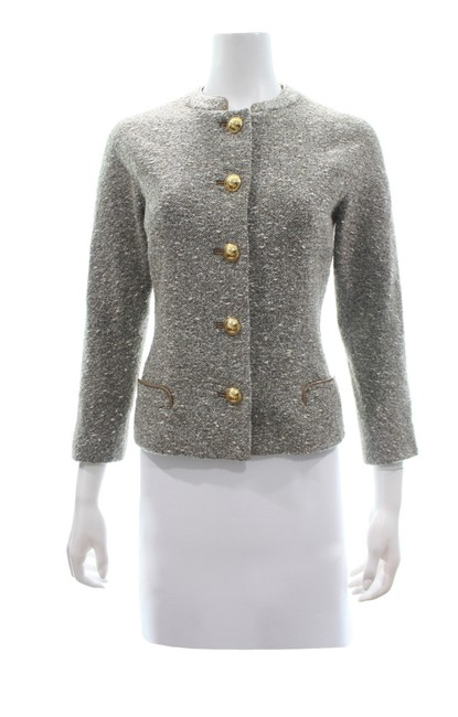 Preload https://img-static.tradesy.com/item/25813418/elie-tahari-tan-tweed-wool-blend-sp-blazer-size-petite-4-s-0-0-650-650.jpg
