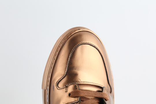 Balenciaga Brown Leather Copper High Top Sneakers Shoes Image 6