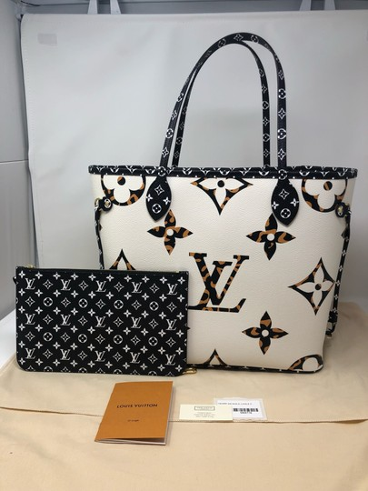 Louis Vuitton Neverfull Neverfull Jungle Neverfull Mm Jungle Collection Jungle Monogram Tote in Ivoire Image 1