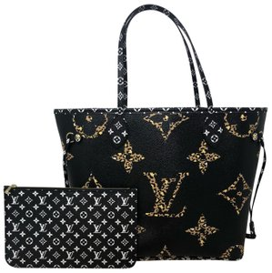 Louis Vuitton Neverfull Neverfull Jungle Neverfull Mm Jungle Jungle Monogram Jungle Collection Tote in Noir