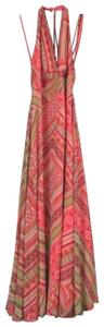red, green Maxi Dress by Miguelina