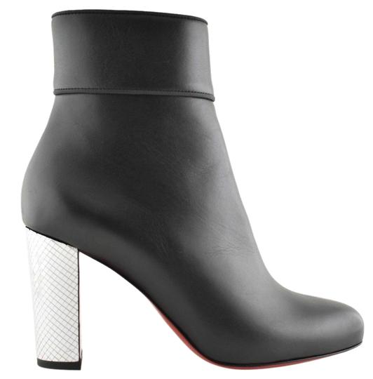 Preload https://img-static.tradesy.com/item/25813530/christian-louboutin-black-moulamax-85-leather-silver-disco-ball-heel-ankle-zip-bootsbooties-size-eu-0-1-540-540.jpg