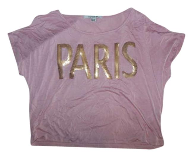 Preload https://img-static.tradesy.com/item/258136/forever-21-pink-tee-shirt-size-4-s-0-0-650-650.jpg