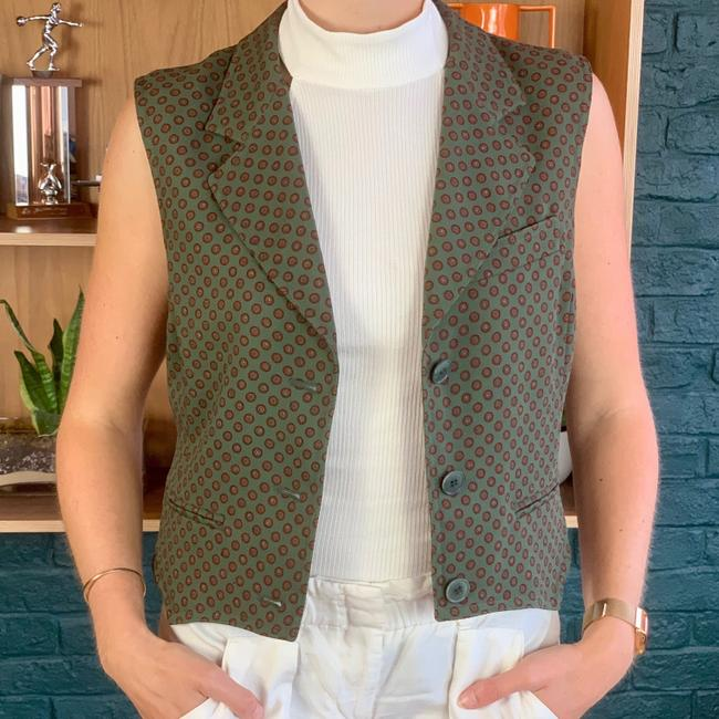 Max Mara Notch Lapel Wool Stuctured Vest Image 1