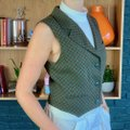 Max Mara Notch Lapel Wool Stuctured Vest Image 2