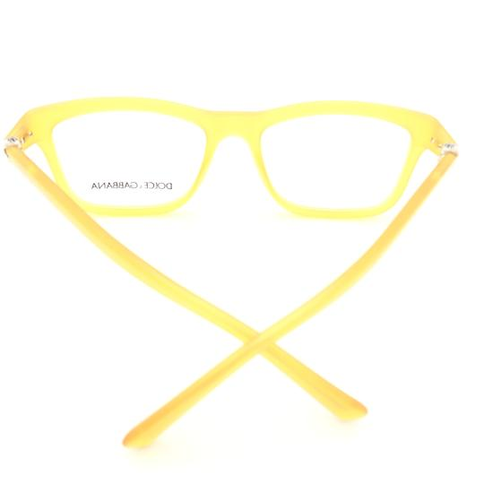 Dolce&Gabbana Dolce and Gabbana Square Translucent Yellow DG3164 c.652 Rx Eyeglasses Image 6