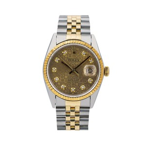 Rolex Rolex Datejust 16013 36MM Champagne Diamond Dial With 1.20 CT Diamonds