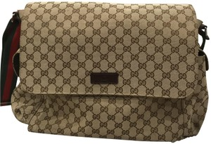 Gucci Classic Monogram Designer Brown Diaper Bag