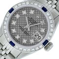Rolex Ladies Datejust Stainless Steel with Diamond Dial Watch Image 0