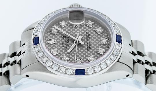 Rolex Ladies Datejust Stainless Steel with Diamond Dial Watch Image 5