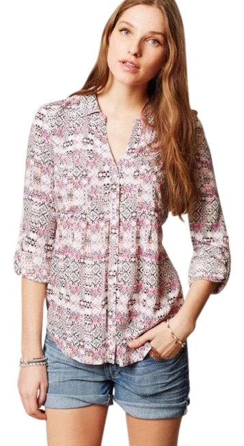 Preload https://img-static.tradesy.com/item/25813974/anthropologie-mosaic-print-button-down-by-maeve-blouse-size-6-s-0-1-650-650.jpg