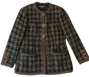 Chanel Brown and Green Blazer