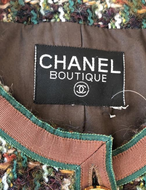 Chanel Brown and Green Blazer Image 2