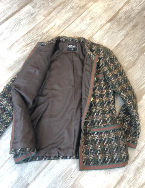 Chanel Brown and Green Blazer Image 7