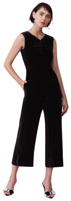 Preload https://img-static.tradesy.com/item/25814081/rebecca-taylor-black-ruched-velvet-romperjumpsuit-0-1-650-650.jpg