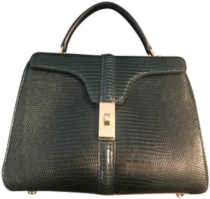 Céline 16 Handbag Satchel in Green