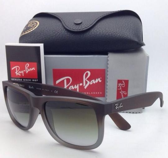 Ray-Ban Ray-Ban Sunglasses JUSTIN RB 4165 854/7Z Rubber Brown on Grey Frames Image 1