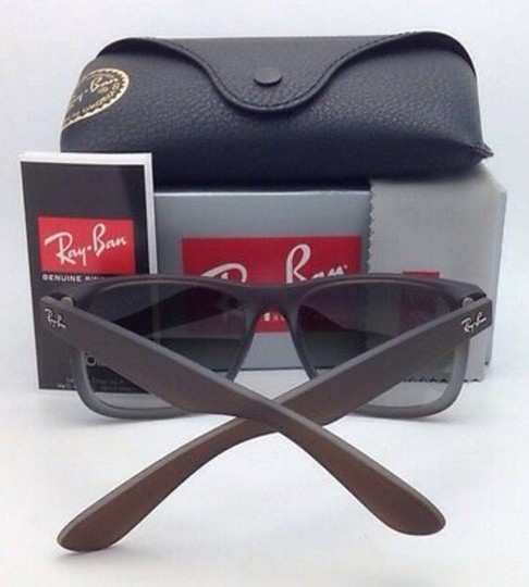 Ray-Ban Ray-Ban Sunglasses JUSTIN RB 4165 854/7Z Rubber Brown on Grey Frames Image 3