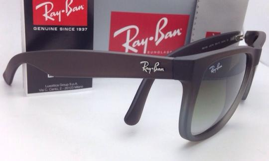 Ray-Ban Ray-Ban Sunglasses JUSTIN RB 4165 854/7Z Rubber Brown on Grey Frames Image 4