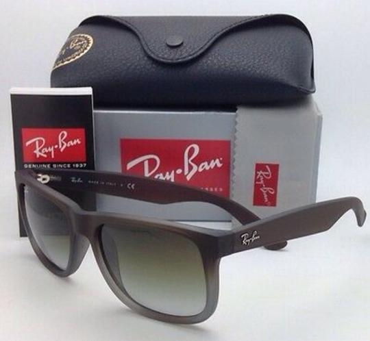 Ray-Ban Ray-Ban Sunglasses JUSTIN RB 4165 854/7Z Rubber Brown on Grey Frames Image 6