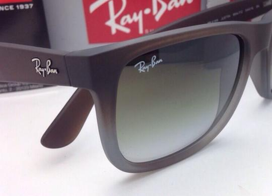 Ray-Ban Ray-Ban Sunglasses JUSTIN RB 4165 854/7Z Rubber Brown on Grey Frames Image 9