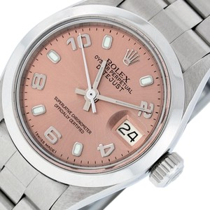 Rolex Ladies Datejust Stainless Steel with Salmon Luminous Dial Watch
