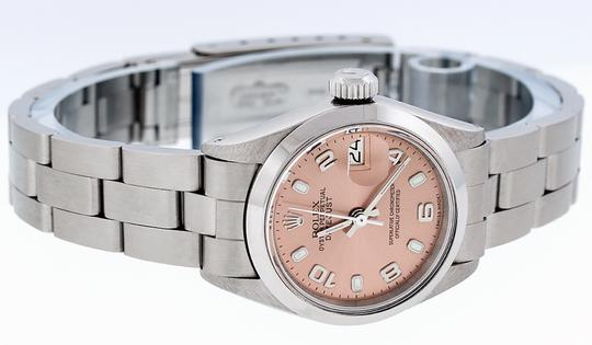 Rolex Ladies Datejust Stainless Steel with Salmon Luminous Dial Watch Image 2