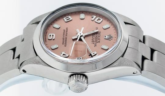 Rolex Ladies Datejust Stainless Steel with Salmon Luminous Dial Watch Image 4