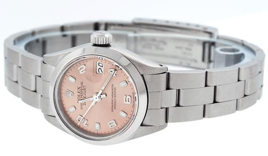 Rolex Ladies Datejust Stainless Steel with Salmon Luminous Dial Watch Image 6