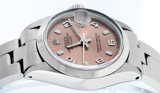 Rolex Ladies Datejust Stainless Steel with Salmon Luminous Dial Watch Image 8