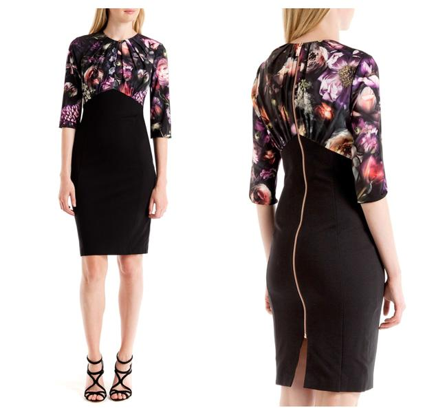 Preload https://img-static.tradesy.com/item/25814276/ted-baker-multicolor-hounest-shadow-floral-gathered-mid-length-cocktail-dress-size-0-xs-0-0-650-650.jpg