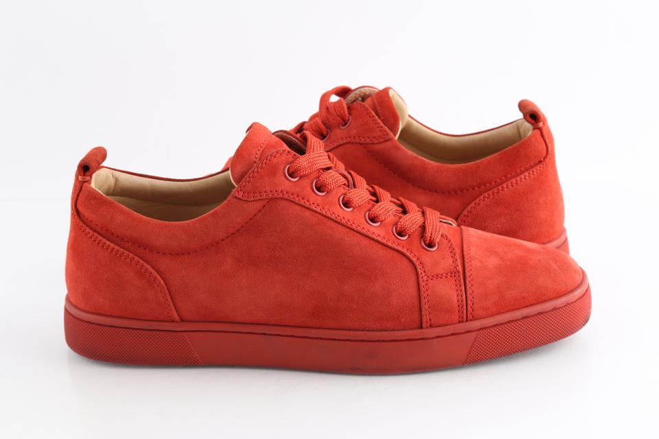 check out f94d5 faf2a Christian Louboutin Orange Louis Junior Suede Sneakers Shoes 26% off retail
