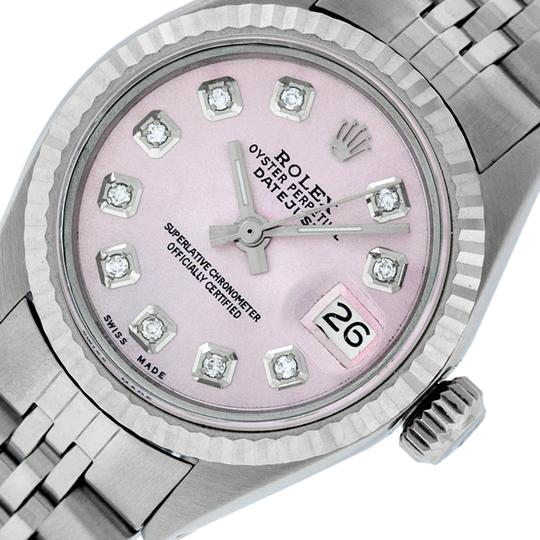 Preload https://img-static.tradesy.com/item/25814333/rolex-ice-pink-ladies-datejust-stainless-steel-with-diamond-dial-watch-0-2-540-540.jpg