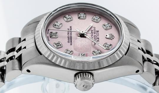 Rolex Ladies Datejust Stainless Steel with Diamond Dial Watch Image 3