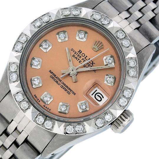 Preload https://img-static.tradesy.com/item/25814368/rolex-salmon-ladies-datejust-stainless-steel-with-diamond-dial-watch-0-2-540-540.jpg