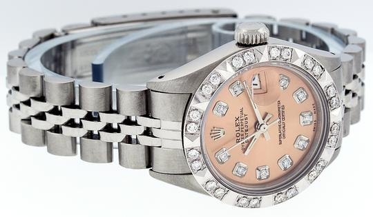 Rolex Ladies Datejust Stainless Steel with Diamond Dial Watch Image 2