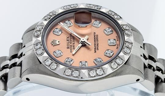 Rolex Ladies Datejust Stainless Steel with Diamond Dial Watch Image 9