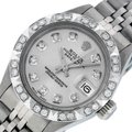Rolex Ladies Datejust Stainless Steel with Silver Diamond Dial Watch Image 0