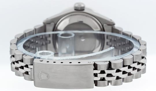 Rolex Ladies Datejust Stainless Steel with Silver Diamond Dial Watch Image 3