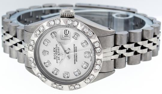 Rolex Ladies Datejust Stainless Steel with Silver Diamond Dial Watch Image 7